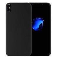 Силиконовый матовый непрозрачный чехол для Iphone X 10  Черный