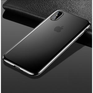Силиконовый матовый полупрозрачный чехол с допзащитой камеры для Iphone X 10