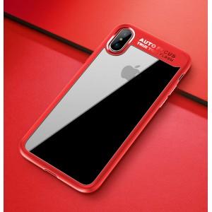 Силиконовый матовый полупрозрачный чехол для Iphone X 10/XS Красный