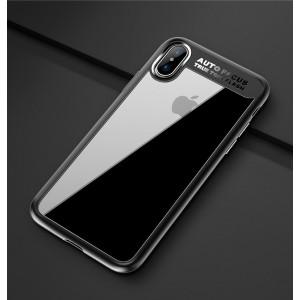 Силиконовый матовый полупрозрачный чехол для Iphone X 10/XS Черный