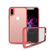 Силиконовый матовый полупрозрачный чехол для Iphone X 10  Красный