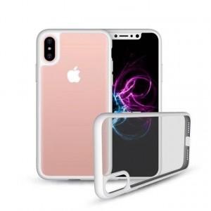 Силиконовый матовый полупрозрачный чехол для Iphone X 10/XS Белый