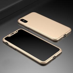 Двухкомпонентный пластиковый непрозрачный матовый чехол сборного типа для Iphone X 10/XS