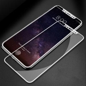Полноэкранное ультратонкое износоустойчивое сколостойкое олеофобное защитное стекло-пленка для Iphone X 10/XS Белый