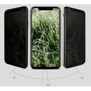 Антишпионское износоустойчивое сколостойкое олеофобное защитное стекло-пленка для Iphone X 10/XS