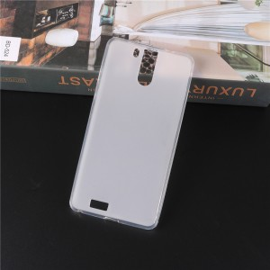 Силиконовый матовый полупрозрачный чехол для Oukitel K6000 Pro Белый