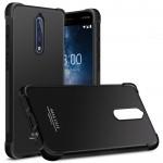 Силиконовый матовый непрозрачный чехол с усиленными углами для Nokia 8