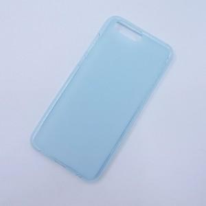 Силиконовый матовый полупрозрачный чехол для ASUS ZenFone 4 ZE554KL Голубой