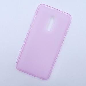 Силиконовый матовый полупрозрачный чехол для Alcatel A7  Розовый