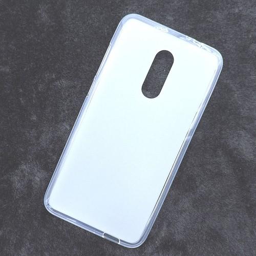 Силиконовый матовый полупрозрачный чехол для Alcatel A7  Белый