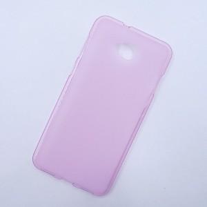 Силиконовый матовый полупрозрачный чехол для ASUS ZenFone 4 Selfie/Live ZB553KL Розовый