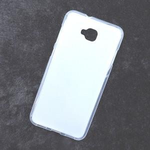 Силиконовый матовый полупрозрачный чехол для ASUS ZenFone 4 Selfie/Live ZB553KL Белый