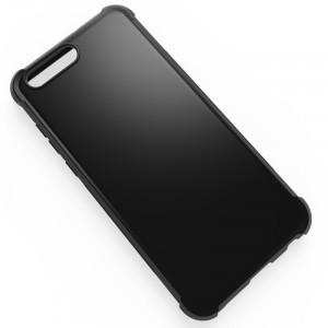 Силиконовый матовый непрозрачный дизайнерский фигурный чехол с усиленными углами для ASUS ZenFone 4 ZE554KL  Черный