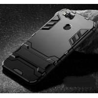 Противоударный силиконовый матовый непрозрачный чехол с поликарбонатными вставками экстрим защиты с встроенной ножкой-подставкой для Xiaomi Mi5X/Mi A1 Черный