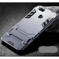 Противоударный силиконовый матовый непрозрачный чехол с поликарбонатными вставками экстрим защиты с встроенной ножкой-подставкой для Xiaomi Mi5X/Mi A1 Серый