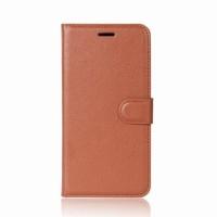 Чехол портмоне подставка на силиконовой основе с отсеком для карт на магнитной защелке для Xiaomi Mi5X/Mi A1 Коричневый