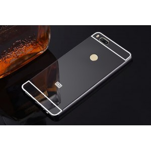 Двухкомпонентный чехол c металлическим бампером с поликарбонатной накладкой и зеркальным покрытием для Xiaomi Mi5X/Mi A1