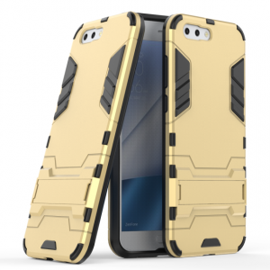 Противоударный силиконовый матовый непрозрачный чехол с поликарбонатными вставками экстрим защиты с встроенной ножкой-подставкой для ASUS ZenFone 4 ZE554KL