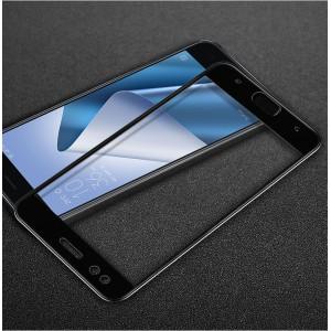 Полноэкранное износоустойчивое сколостойкое олеофобное защитное стекло-пленка для ASUS ZenFone 4 ZE554KL Черный