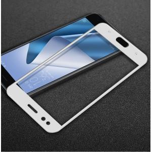 Полноэкранное износоустойчивое сколостойкое олеофобное защитное стекло-пленка для ASUS ZenFone 4 ZE554KL Белый
