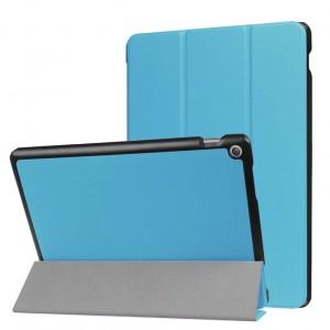 Сегментарный чехол книжка подставка на непрозрачной поликарбонатной основе с магнитной защелкой для ASUS ZenPad 10 Z301ML Голубой