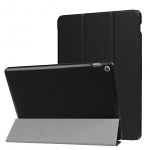 Сегментарный чехол книжка подставка на непрозрачной поликарбонатной основе с магнитной защелкой для ASUS ZenPad 10 Z301ML Черный