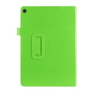 Чехол книжка подставка с рамочной защитой экрана и крепежом для стилуса для ASUS ZenPad 10 Z301ML  Зеленый