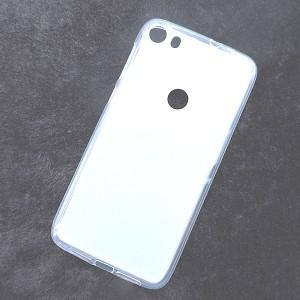 Силиконовый матовый полупрозрачный чехол для Alcatel Idol 5  Белый