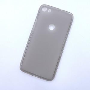 Силиконовый матовый полупрозрачный чехол для Alcatel Idol 5  Серый