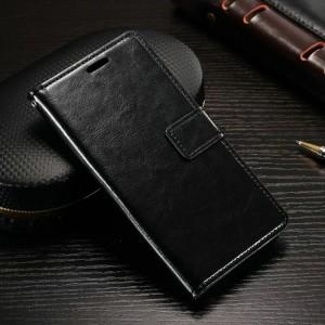 Винтажный чехол портмоне подставка на силиконовой основе с отсеком для карт на магнитной защелке для Alcatel Shine Lite