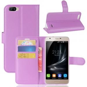 Чехол портмоне подставка на силиконовой основе на магнитной защелке для Blackview A7  Фиолетовый