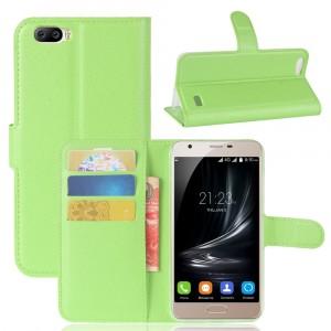 Чехол портмоне подставка на силиконовой основе на магнитной защелке для Blackview A7  Зеленый