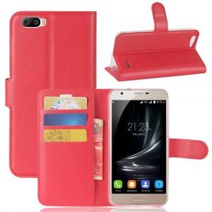 Чехол портмоне подставка на силиконовой основе на магнитной защелке для Blackview A7  Красный