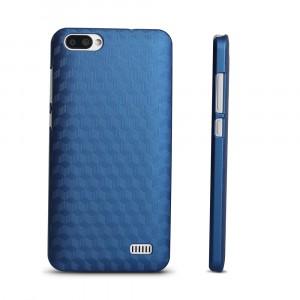 Пластиковый непрозрачный матовый чехол с повышенной шероховатостью для Blackview A7  Синий