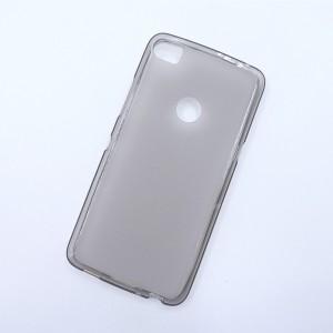 Силиконовый матовый полупрозрачный чехол для Alcatel Idol 5S  Серый
