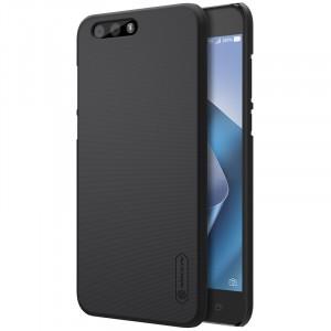 Пластиковый непрозрачный матовый нескользящий премиум чехол с повышенной шероховатостью для ASUS ZenFone 4 ZE554KL  Черный