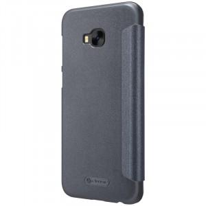 Чехол горизонтальная книжка на пластиковой нескользящей премиум основе для ASUS ZenFone 4 Selfie Pro  Черный