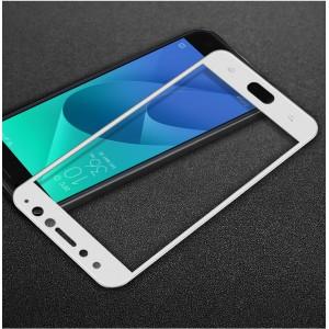 Полноэкранное износоустойчивое сколостойкое олеофобное защитное стекло-пленка для ASUS ZenFone 4 Selfie Pro Белый