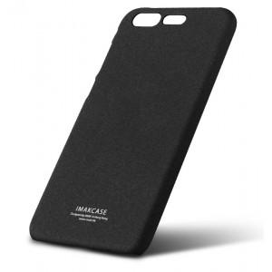 Пластиковый непрозрачный матовый нескользящий чехол с повышенной шероховатостью для ASUS ZenFone 4 Pro  Черный