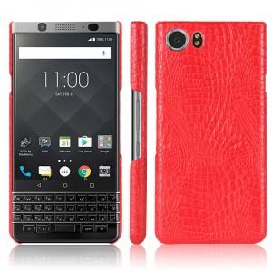 Чехол накладка текстурная отделка Кожа текстура Крокодил для BlackBerry KEYone Красный