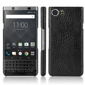 Чехол накладка текстурная отделка Кожа текстура Крокодил для BlackBerry KEYone Черный
