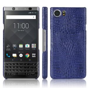 Чехол накладка текстурная отделка Кожа текстура Крокодил для BlackBerry KEYone Синий