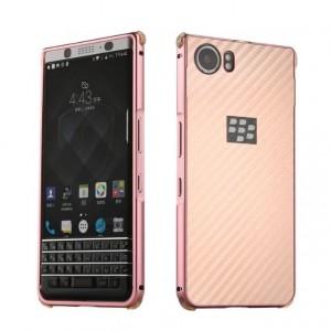 Двухкомпонентный чехол c металлическим бампером с поликарбонатной накладкой и текстурным покрытием Металл для BlackBerry KEYone