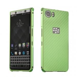 Двухкомпонентный чехол c металлическим бампером с поликарбонатной накладкой и текстурным покрытием Металл для BlackBerry KEYone  Зеленый