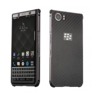 Двухкомпонентный чехол c металлическим бампером с поликарбонатной накладкой и текстурным покрытием Металл для BlackBerry KEYone  Черный
