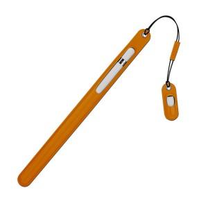 Кожаный мешок (нат. кожа) для Apple Pencil с отдельным карманом на клапане для переходника для Apple Pencil Оранжевый