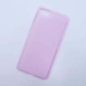 Силиконовый матовый полупрозрачный чехол для ASUS ZenFone 4 Max ZC520KL  Розовый
