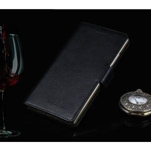 Кожаный чехол портмоне подставка (премиум нат. кожа) с крепежной застежкой для ASUS ZenFone 4 Max ZC520KL  Черный