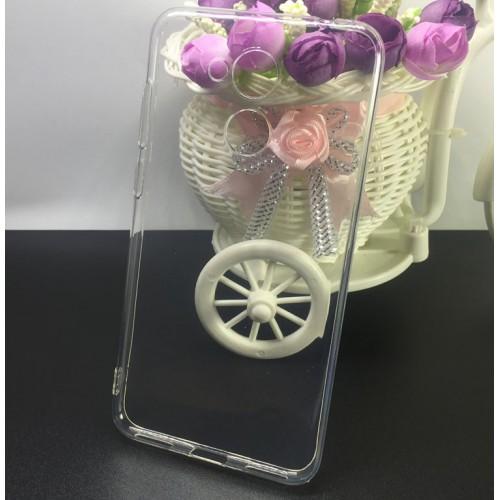 Силиконовый глянцевый транспарентный чехол для Huawei Honor 6C Pro