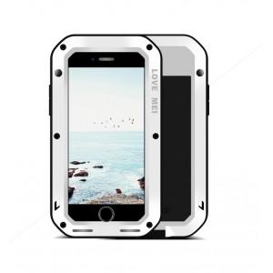 Эксклюзивный многомодульный ультрапротекторный пылевлагозащищенный ударостойкий нескользящий чехол алюминиево-цинковый сплав/силиконовый полимер с закаленным защитным стеклом для Iphone 8